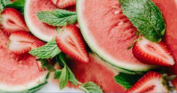 watermelon strawberry popsicle